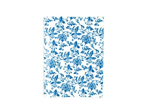 青花單色 筆記本 - 滿版藍