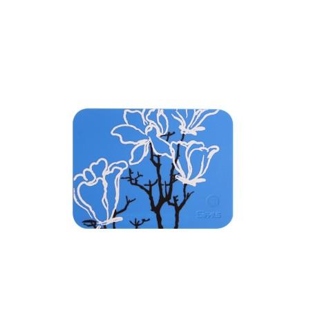 玉蘭純美杯墊 - 藍