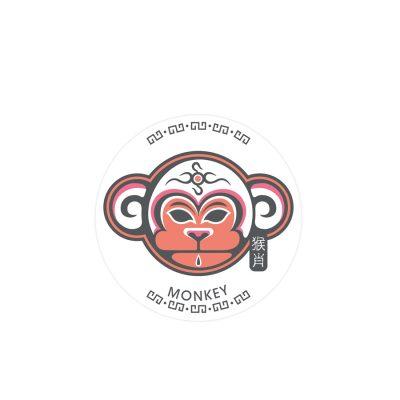 十二生肖杯墊 - 猴