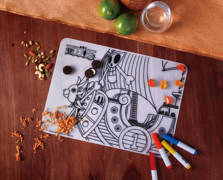喜朋,航海王塗鴉餐墊,航海王,海賊王,塗鴉,餐墊,週邊